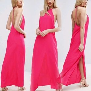 ASOS Halter Strap Back Maxi Dress